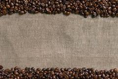 tła fasoli burlap kawa Fotografia Royalty Free