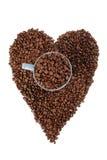 tła fasoli coffe serce Obraz Royalty Free