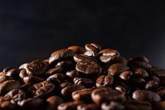 tła fasoli czarny kawa Zdjęcia Royalty Free