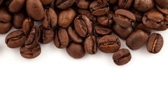 tła fasoli kawowy biel Zdjęcia Royalty Free