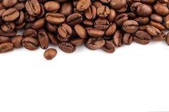 tła fasoli kawowy biel Zdjęcie Royalty Free