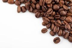 tła fasoli kawowy biel Obraz Royalty Free