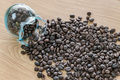 tła fasoli kawy drewno Obrazy Stock