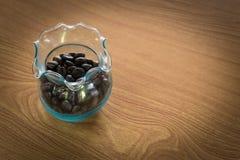 tła fasoli kawy drewno Fotografia Stock