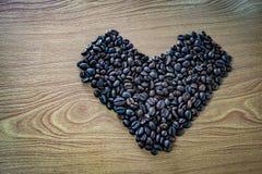 tła fasoli kawy drewno Zdjęcia Stock