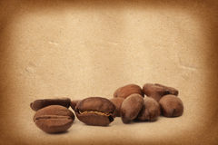 tła fasoli kawy grunge Zdjęcia Royalty Free