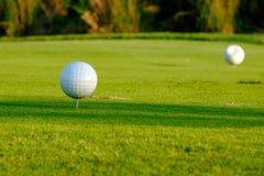 T fuori dal perno nel campo da golf Tailandia del Nord immagine stock libera da diritti