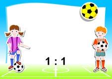 tła futbolu temat Zdjęcie Stock