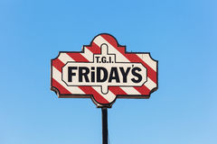 T.G.I's Friday sign in Kuwait Royalty Free Stock Photo