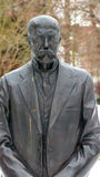 T.G.M statue. Statue of the first president of the czech republic Stock Image