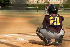 tła graczów baseballi sylwetki biel Zdjęcia Royalty Free