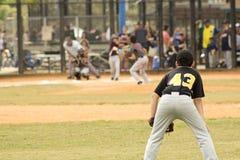 tła graczów baseballi sylwetki biel Obrazy Royalty Free