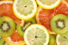 tła grapefruitowa kiwi cytryny mieszanka Obrazy Stock
