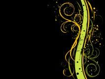 tła grunge czarny kwiecisty Obrazy Royalty Free