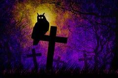 tła grunge Halloween noc textured Zdjęcia Stock