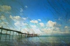 tła grunge krajobrazu papieru morza widok Obrazy Royalty Free