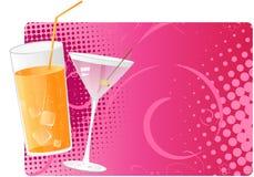 tła halftone soku Martini menchie Zdjęcie Stock