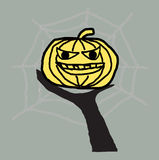 tła Halloween bania Fotografia Stock