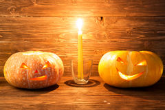 tła Halloween bania Obrazy Stock