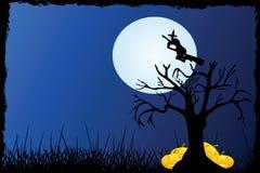 tła Halloween drzewo Obraz Royalty Free
