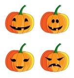 tła Halloween dyniowy ustalony biel Zdjęcia Stock