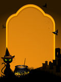 tła Halloween kamienny grobowiec Zdjęcie Royalty Free