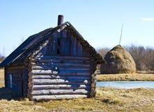 tła haystacks dom Fotografia Stock