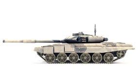 T-90 hoofdGevechtstank, Rusland op witte achtergrond Stock Afbeelding