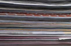 tła horyzontalna magazynów stron sterta Obrazy Royalty Free