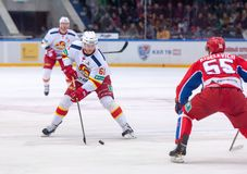 T. Huhtala (61) versus B. Kiselevich (55) Stock Photography