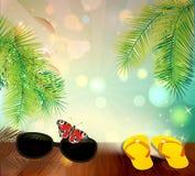 tła ilustracyjny palmowy lato drzew wektor Obrazy Stock