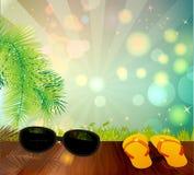 tła ilustracyjny palmowy lato drzew wektor Zdjęcia Stock