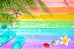 tła ilustracyjny palmowy lato drzew wektor Obrazy Royalty Free
