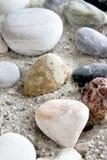 tła inkasowi piaska morza kamienie Obrazy Stock