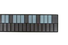 tła instrumentu odosobniony klawiaturowy biel Fotografia Stock