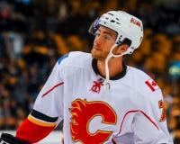 T J Brodie, chamas de Calgary Fotografia de Stock Royalty Free