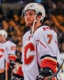 T J Brodie, fiamme di Calgary Immagine Stock
