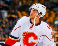 T J Brodie, fiamme di Calgary Immagine Stock Libera da Diritti