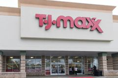 T J Maxx Retail Store Location fotografie stock