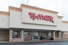 T J Maxx Retail Store Location imagen de archivo libre de regalías