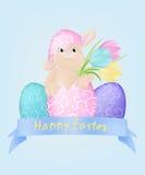 tła jajeczny ilustracyjny królika biel Obrazy Royalty Free