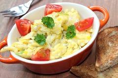 tła jajek omletu rozdrapany biel Zdjęcie Royalty Free
