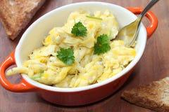 tła jajek omletu rozdrapany biel Obrazy Royalty Free