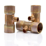 T-joint connection pipe of Air-conditioner or Refrigerant system Stock Images