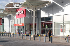T.K.Maxx store. The T.K.Maxx shop in Kempston, Beds, UK.T.K. Maxx is a retailer with stores throughout the United Kingdom, Ireland, Germany and Poland. The Stock Image