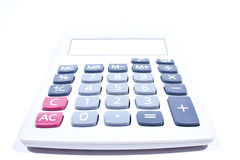 tła kalkulatora biel Fotografia Royalty Free