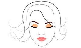 tła karcianej twarzy powitania strony szablonu ogólnoludzka sieci kobieta Obraz Royalty Free