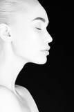 tła karcianej twarzy powitania strony szablonu ogólnoludzka sieci kobieta czarny white Obrazy Royalty Free