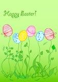 tła karciany Easter wektor ilustracja wektor