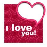 tła karciany serca s valentine Obraz Royalty Free